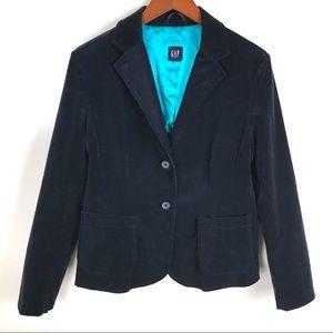 Gap Velvet Blue Blazer / Jacket Size M